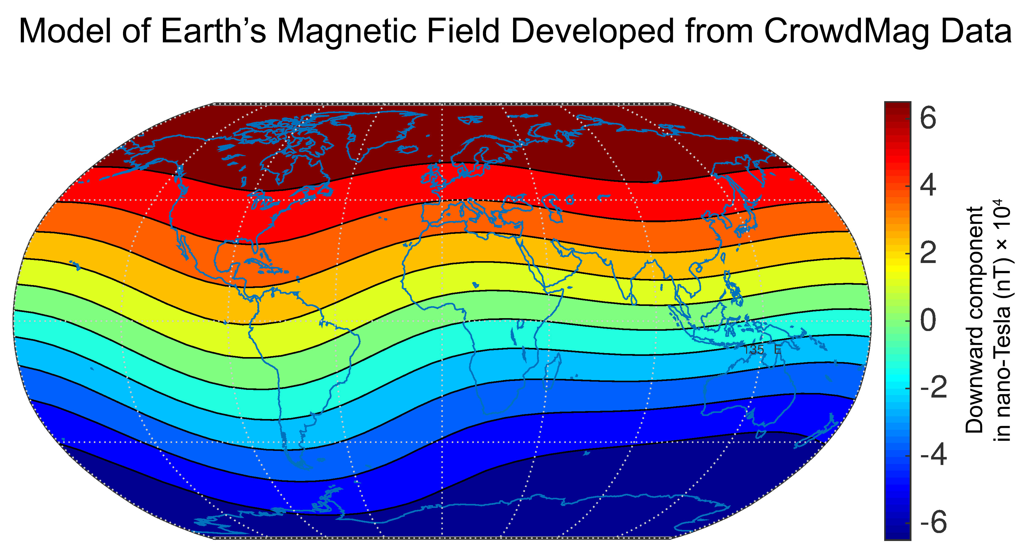 Earth's magnetic model developed using CrowdMag data