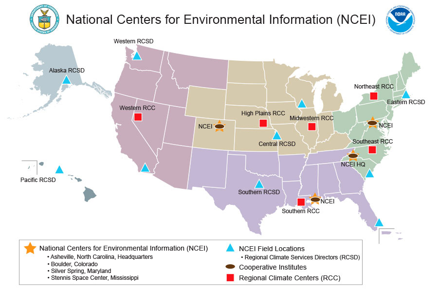 NCEI Geographic Locations
