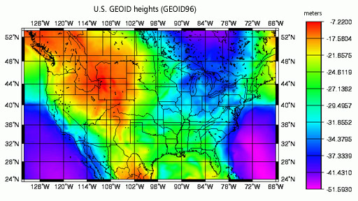 U.S. Gravity GEOID (GEOID96)