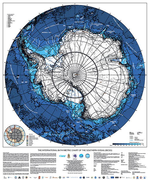 IBCSO v1 Chart of Southern Ocean Bathymetry.