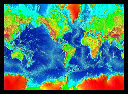 view color relief map, global, Mercator projection.