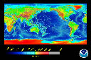 view color relief map, global, Cylindrical Equidistant projection.