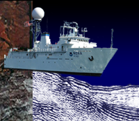 mgg ship, core, seismic collage