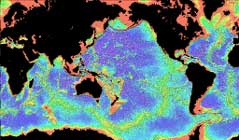 predicted topo of the Global Ocean
