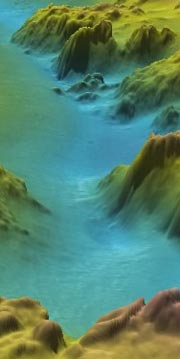 sample Fliedermaus 3D image of NOS shallow water bathymetry