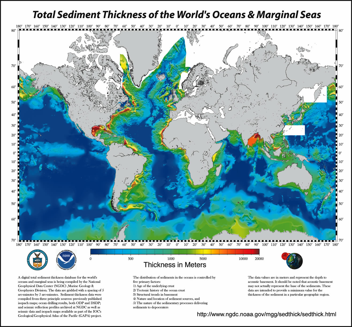 Total sediment thickness of the world 39 s oceans and for 10 facts about sea floor spreading