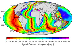 age of oceanic lithosphere