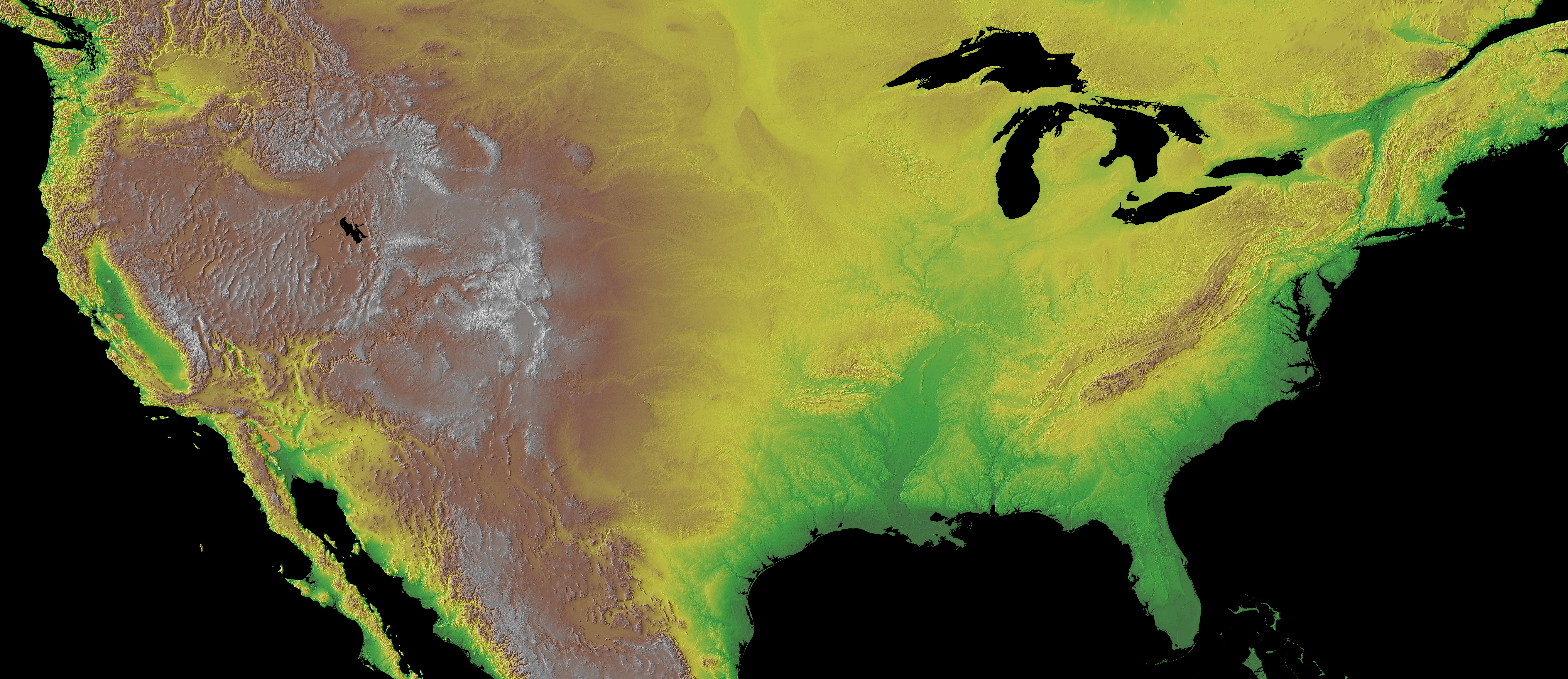 United States Elevation Map United States Physical Map Zoom Maps - Elevation map of usa